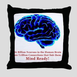 Mind Ready Throw Pillow