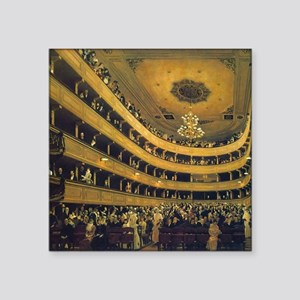 "Old Burgtheater by Gustav K Square Sticker 3"" x 3"""