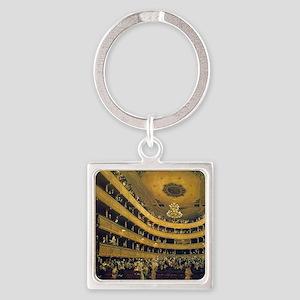 Old Burgtheater by Gustav Klimt Square Keychain