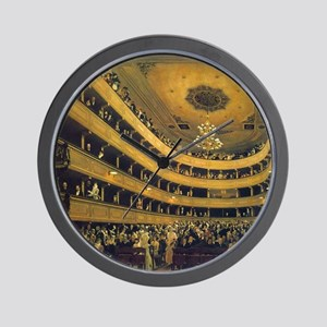 Old Burgtheater by Gustav Klimt Wall Clock