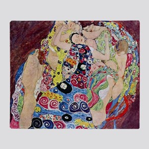 The Virgin By Gustav Klimt Throw Blanket