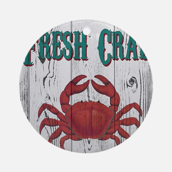 Fresh Crab Round Ornament