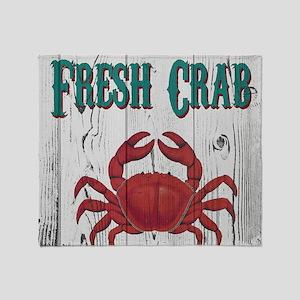 Fresh Crab Throw Blanket
