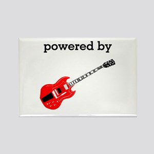 Powered By Electric Guitar Rectangle Magnet