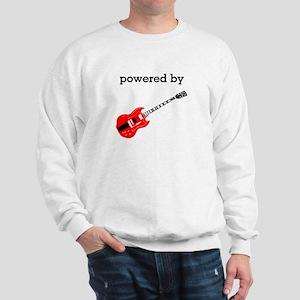 Powered By Electric Guitar Sweatshirt