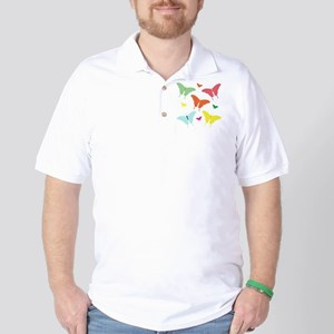 PolkaDot Butterflies Golf Shirt