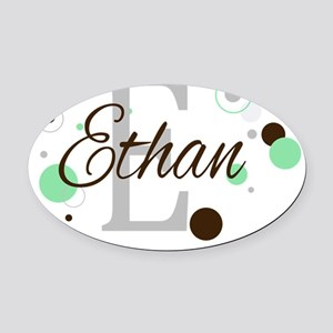 ethan copy Oval Car Magnet