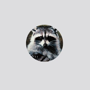 Raccoon Portrait Mini Button