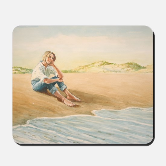 Woman on the Beach Mousepad