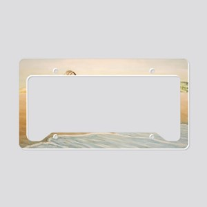 Woman on the Beach License Plate Holder