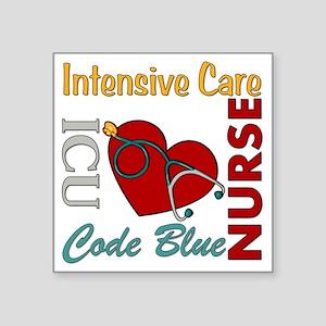 "ICU Nurse Square Sticker 3"" x 3"""