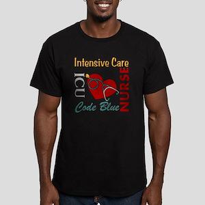 ICU Nurse Men's Fitted T-Shirt (dark)