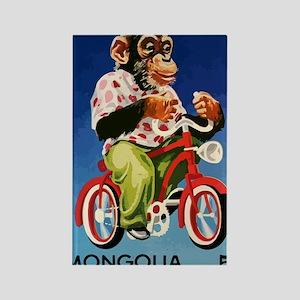 1973 Mongolia Chimp Riding Bicycl Rectangle Magnet