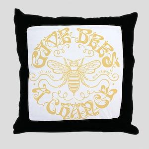 bees-chance-DKT Throw Pillow