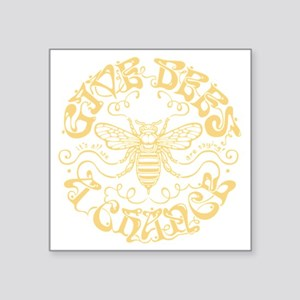 """bees-chance-DKT Square Sticker 3"""" x 3"""""""