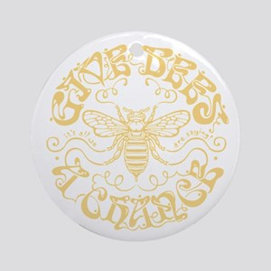 bees-chance-DKT Round Ornament