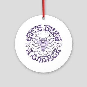 bees-chance-LTT Round Ornament