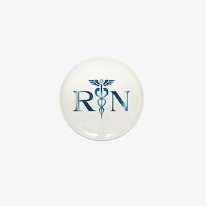 RN Nurse Caduceus Mini Button