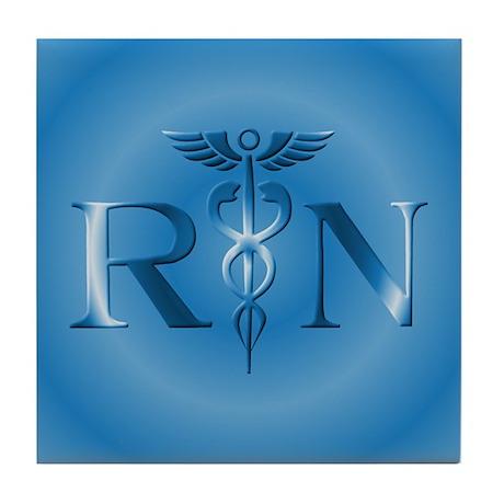 RN Nurse Caduceus Tile Coaster