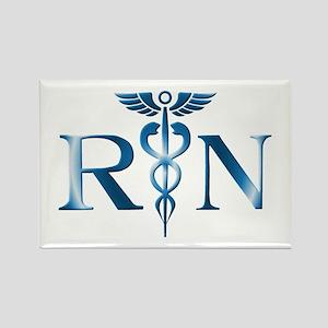 RN Nurse Caduceus Rectangle Magnet