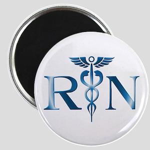 RN Nurse Caduceus Magnet