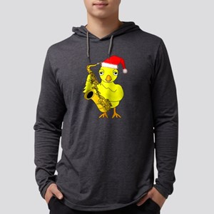 Santa Cap Saxophone Chick Long Sleeve T-Shirt