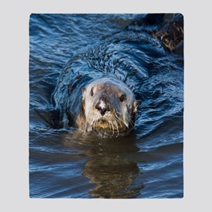 Alaska Sea Otter Throw Blanket