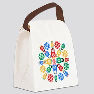 Adorable Nesting Dolls Canvas Lunch Bag
