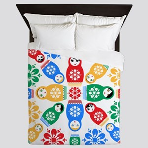Adorable Nesting Dolls Queen Duvet