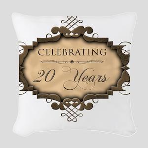 20th Wedding Aniversary (Rusti Woven Throw Pillow