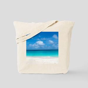 Tropical Beach View Cap Juluca Anguilla Tote Bag