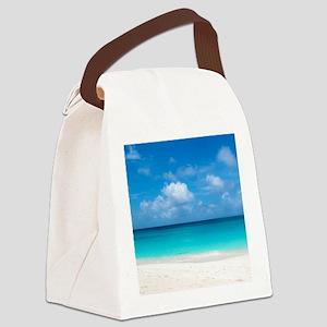 Tropical Beach View Cap Juluca An Canvas Lunch Bag
