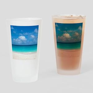 Tropical Beach View Cap Juluca Angu Drinking Glass