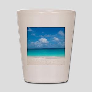Tropical Beach View Cap Juluca Anguilla Shot Glass