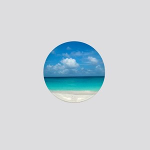 Tropical Beach View Cap Juluca Anguill Mini Button