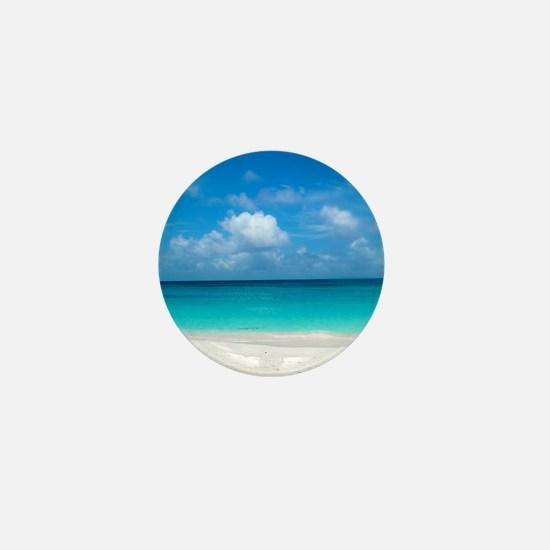 Tropical Beach View Cap Juluca Anguill Mini Button