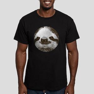 Circle sloth Men's Fitted T-Shirt (dark)