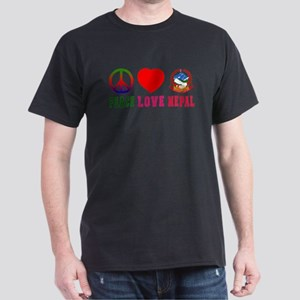 Peace Love Nepal Dark T-Shirt