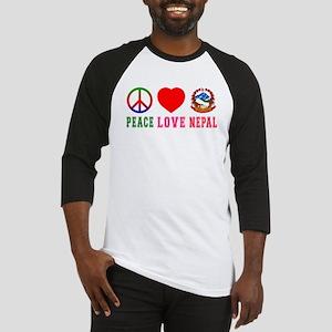 Peace Love Nepal Baseball Jersey