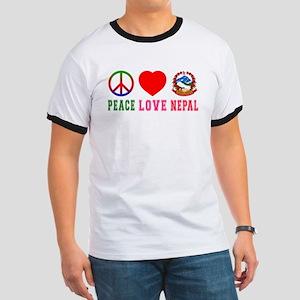 Peace Love Nepal Ringer T