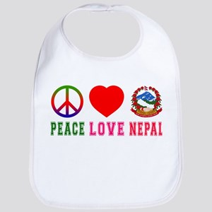 Peace Love Nepal Bib