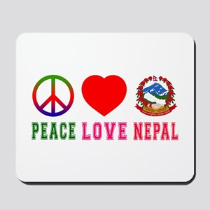 Peace Love Nepal Mousepad