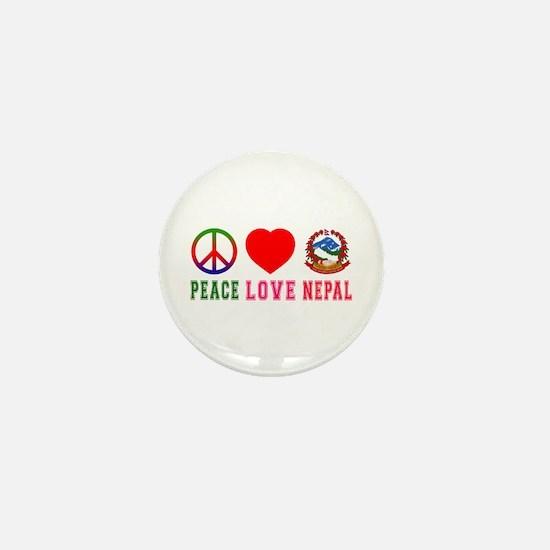 Peace Love Nepal Mini Button