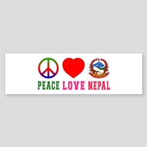 Peace Love Nepal Sticker (Bumper)