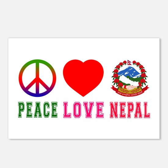 Peace Love Nepal Postcards (Package of 8)