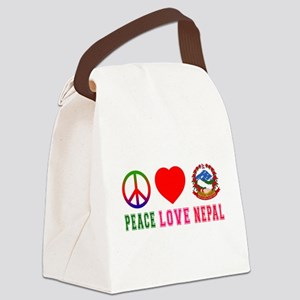 Peace Love Nepal Canvas Lunch Bag