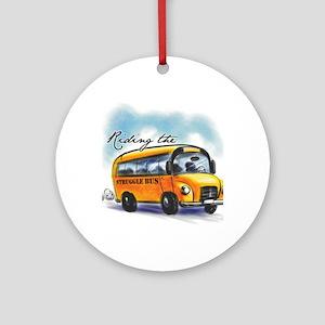 Riding the Struggle Bus Round Ornament