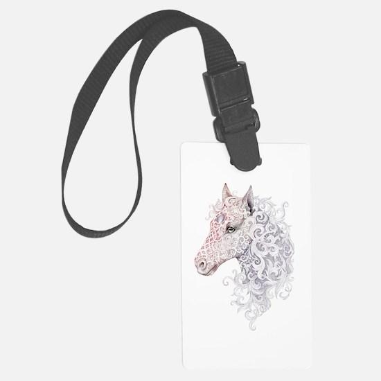 Horse Head Tattoo Luggage Tag