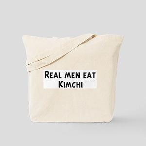 Men eat Kimchi Tote Bag