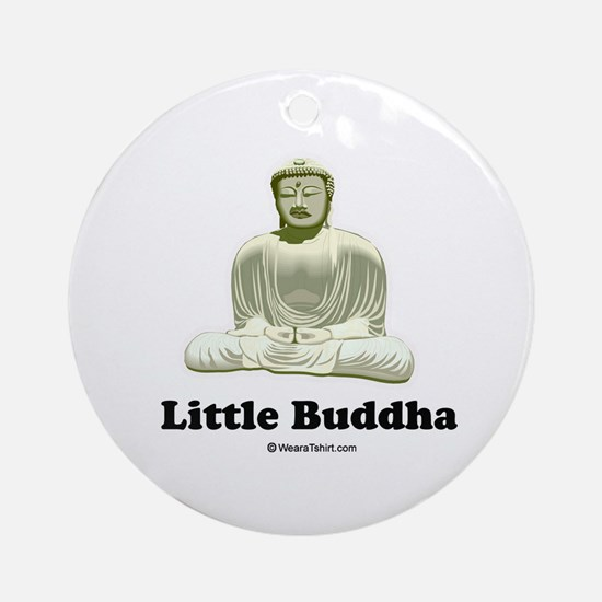 Little Buddha / Baby Humor Ornament (Round)